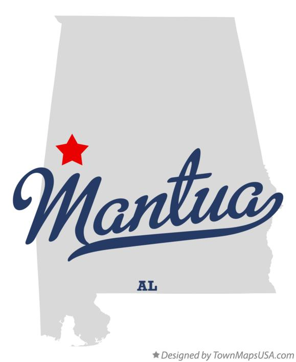 Map of Mantua Alabama AL