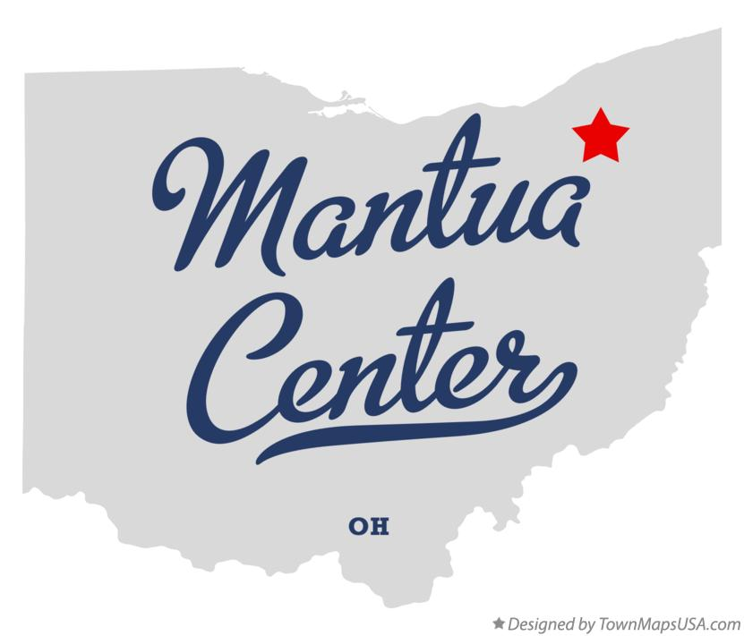 Map Of Mantua Center Oh Ohio