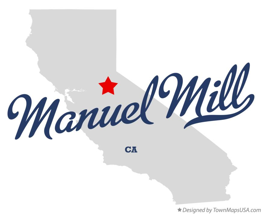 Map of Manuel Mill California CA