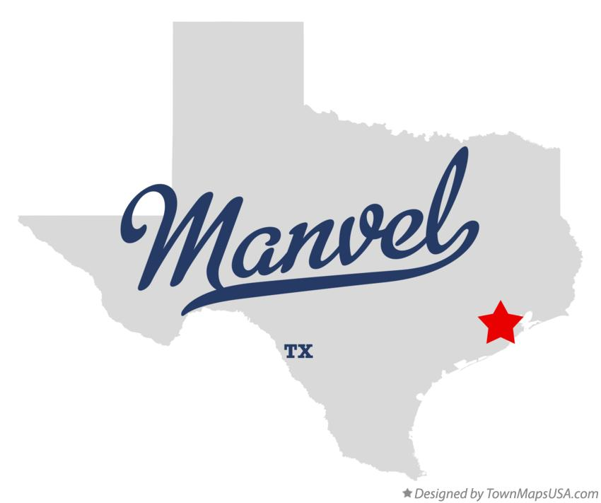 Map of Manvel Texas TX