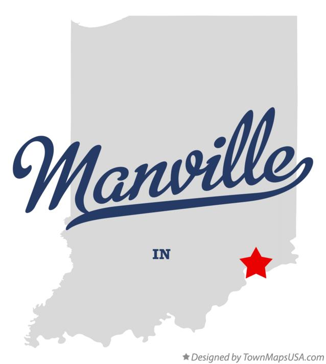 Map of Manville Indiana IN