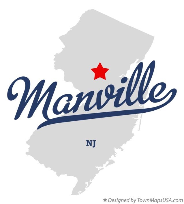 Map of Manville New Jersey NJ