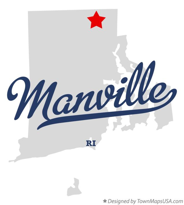 Map of Manville Rhode Island RI