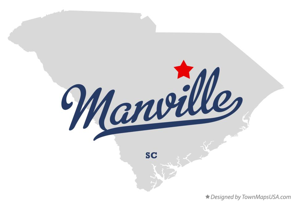 Map of Manville South Carolina SC