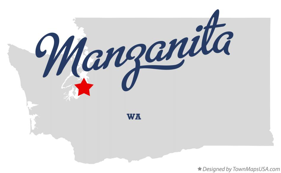 Map of Manzanita Washington WA