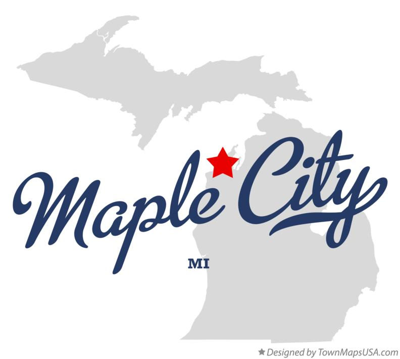 Map of Maple City Michigan MI