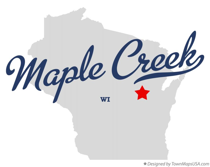 Map of Maple Creek Wisconsin WI