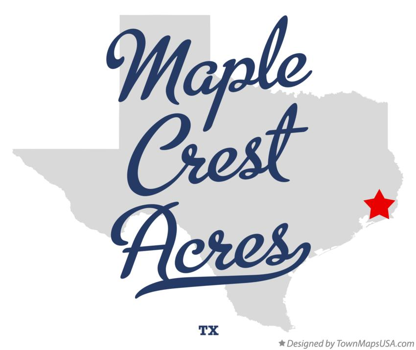 Map of Maple Crest Acres Texas TX