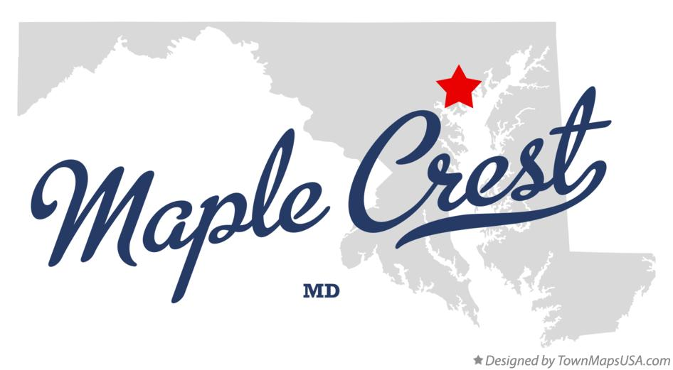 Map of Maple Crest Maryland MD