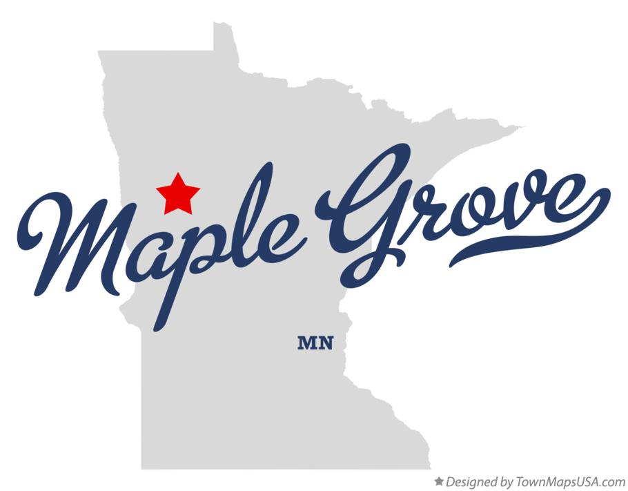 Map of Maple Grove Minnesota MN