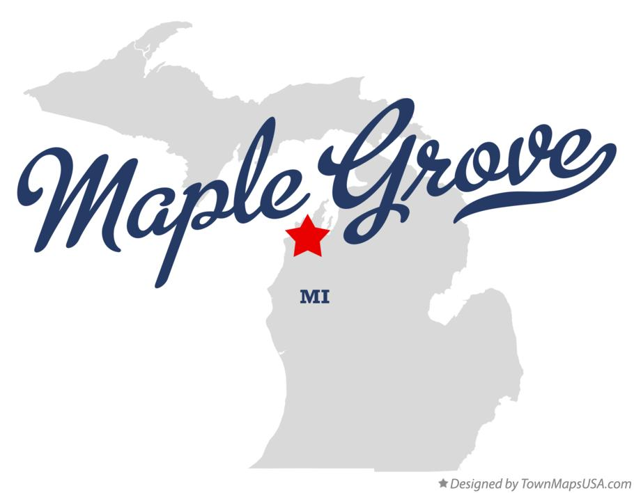 Map of Maple Grove Michigan MI