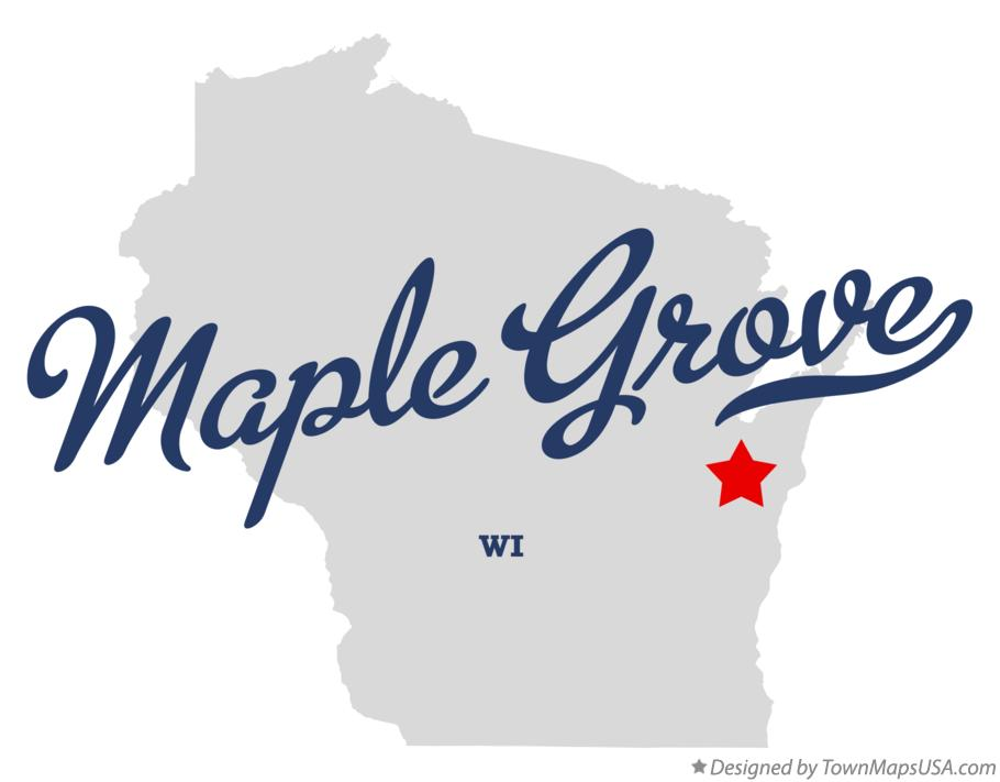 Map of Maple Grove Wisconsin WI