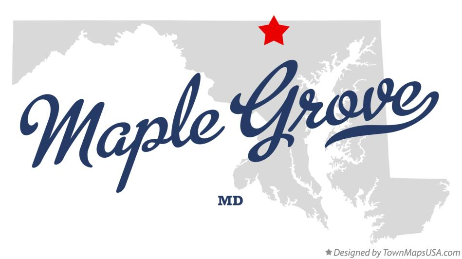 Map of Maple Grove Maryland MD