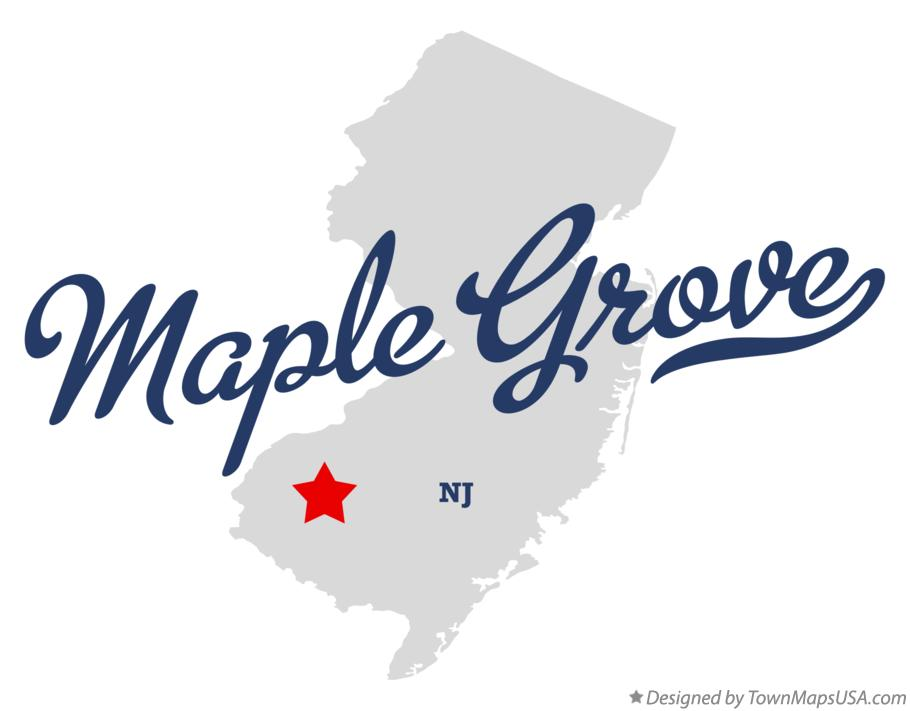 Map of Maple Grove New Jersey NJ
