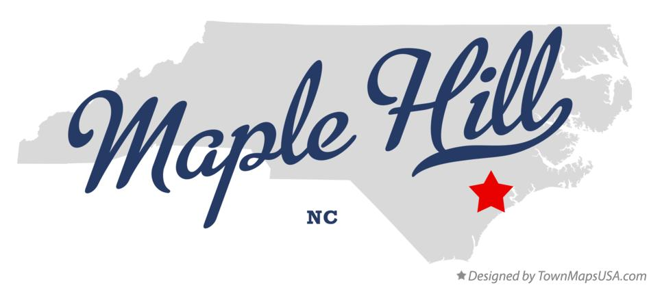 Map of Maple Hill North Carolina NC