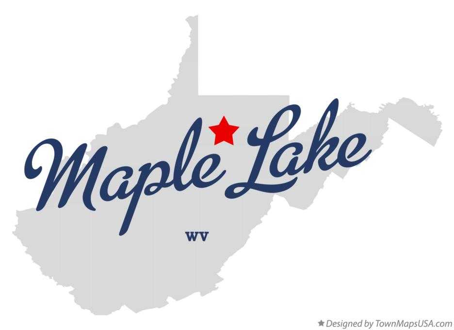 Map of Maple Lake West Virginia WV