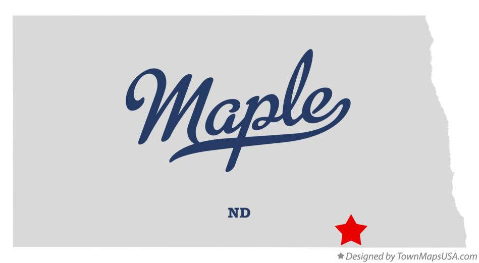 Map of Maple North Dakota ND