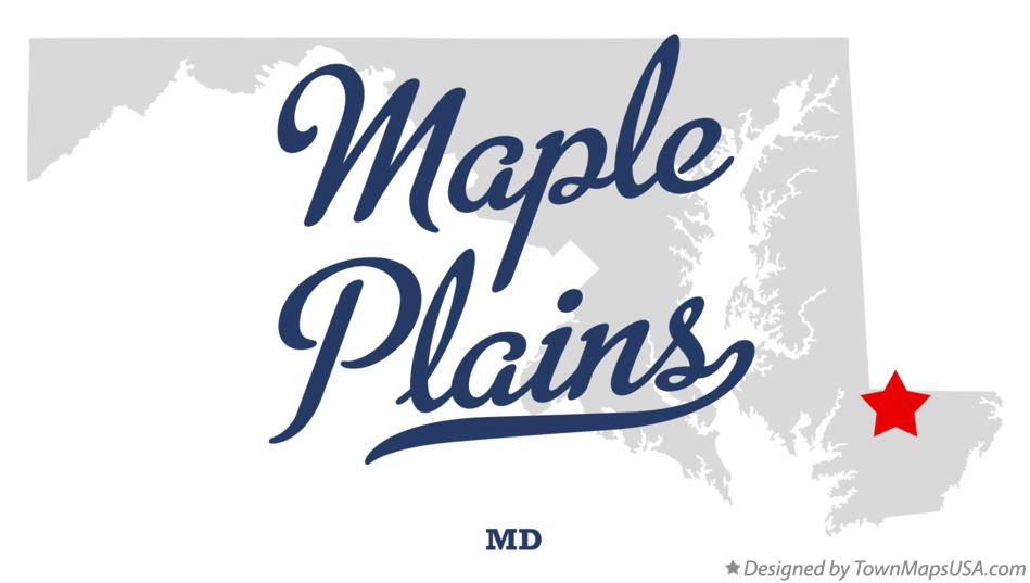 Map of Maple Plains Maryland MD