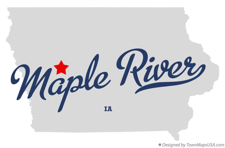 Map of Maple River Iowa IA