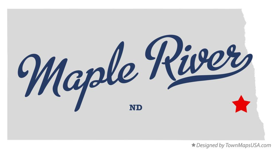 Map of Maple River North Dakota ND