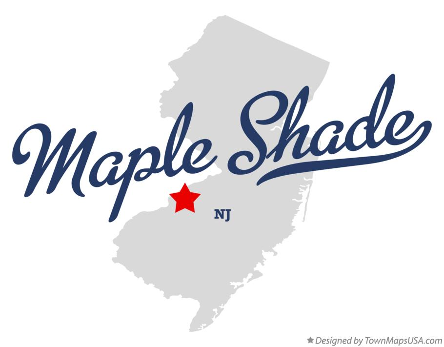 Map of Maple Shade New Jersey NJ