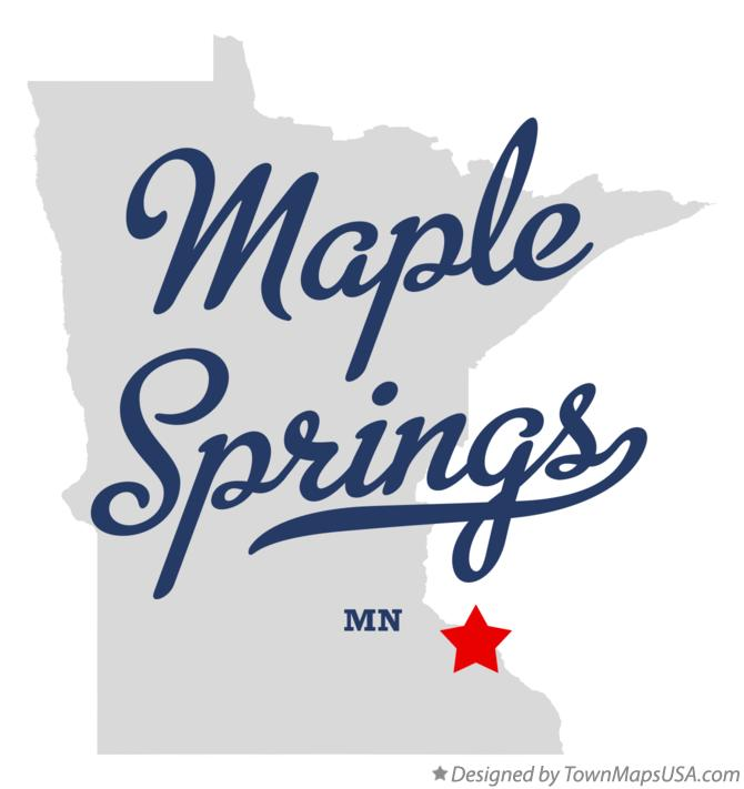 Map of Maple Springs Minnesota MN