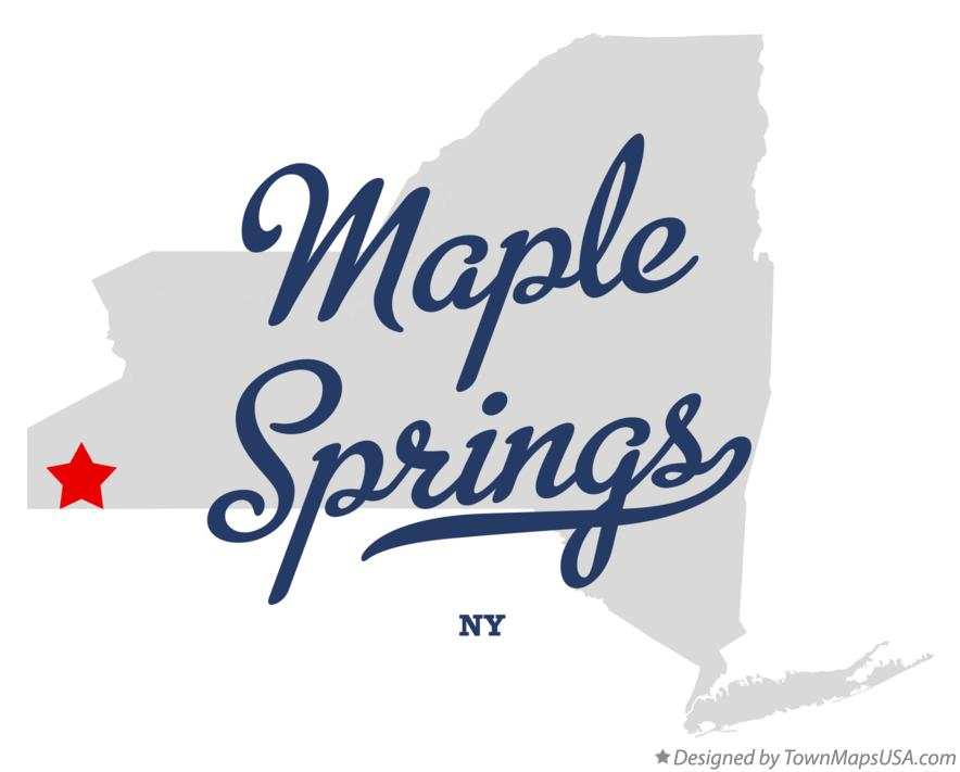 Map of Maple Springs New York NY