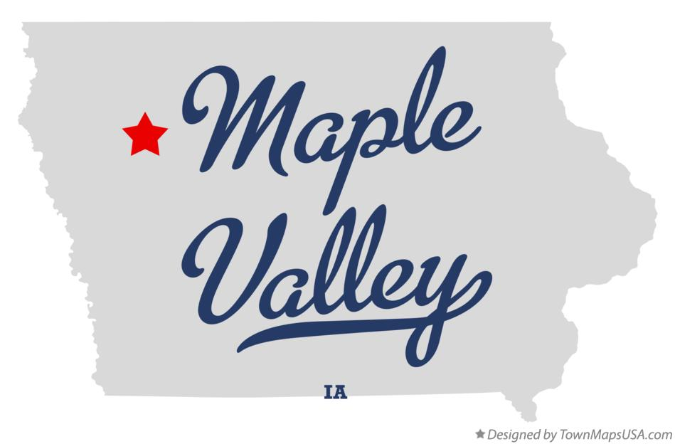 Map of Maple Valley Iowa IA