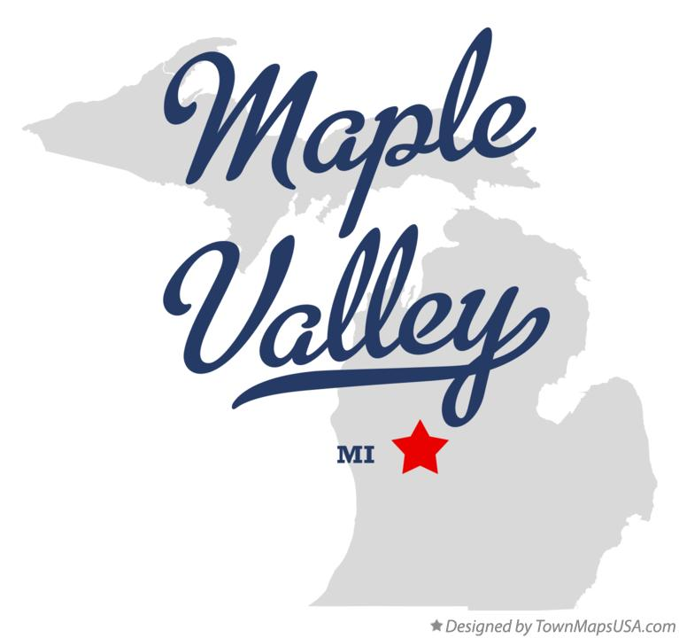 Map of Maple Valley Michigan MI