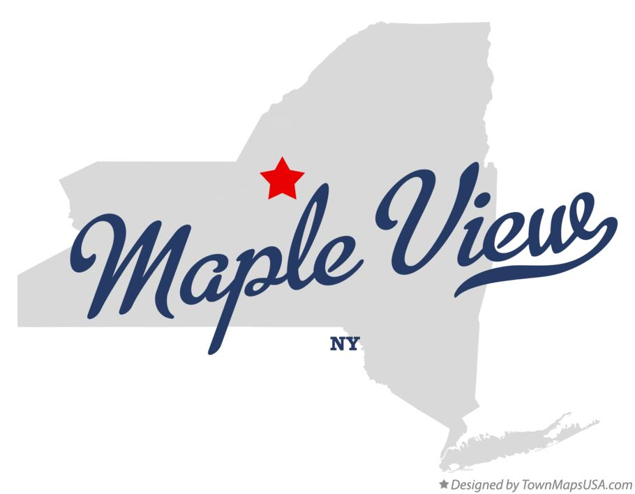 Map of Maple View New York NY
