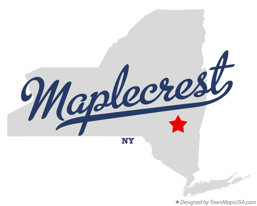 Map of Maplecrest New York NY