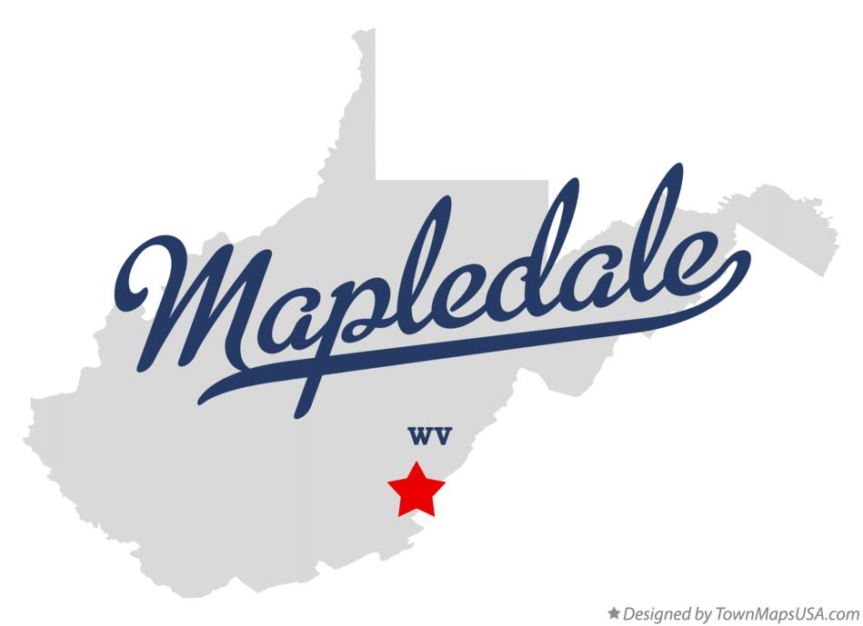 Map of Mapledale West Virginia WV