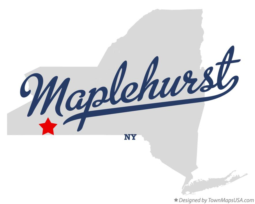 Map of Maplehurst New York NY
