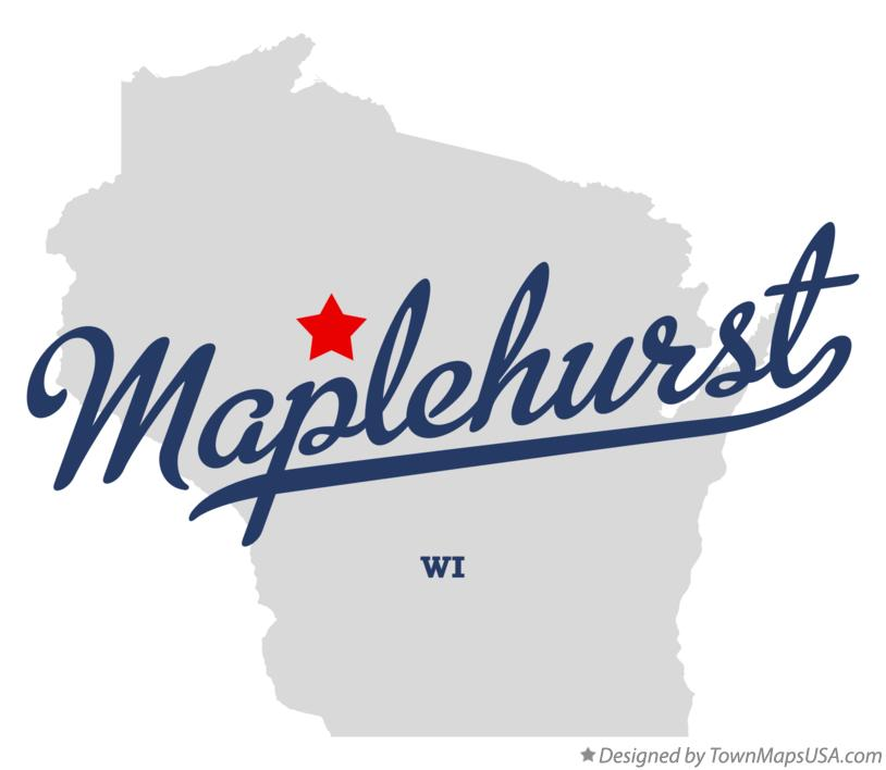 Map of Maplehurst Wisconsin WI