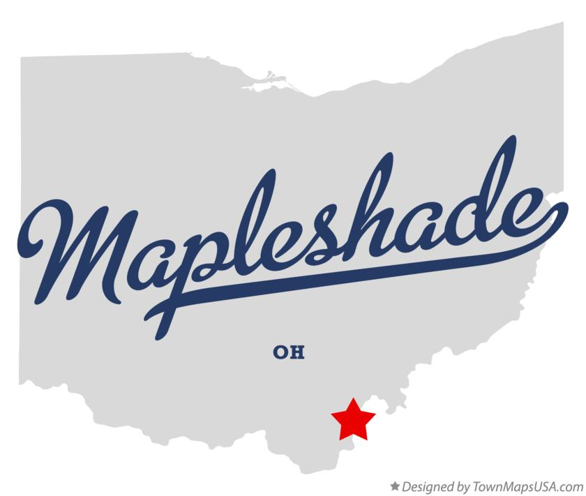 Map of Mapleshade Ohio OH