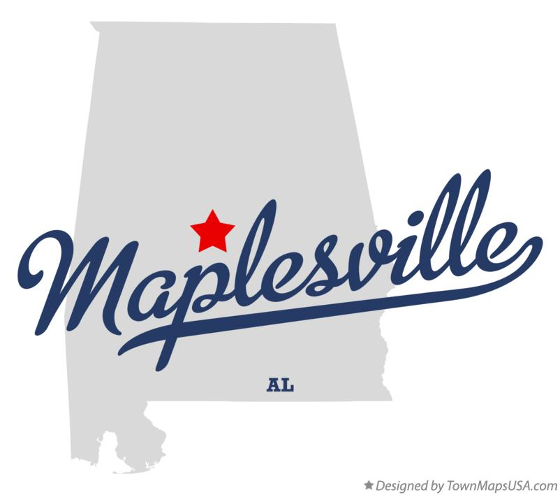 Map of Maplesville Alabama AL
