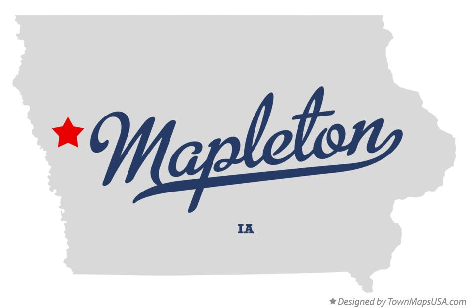 Map of Mapleton Iowa IA