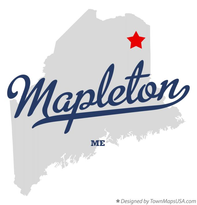Map of Mapleton Maine ME