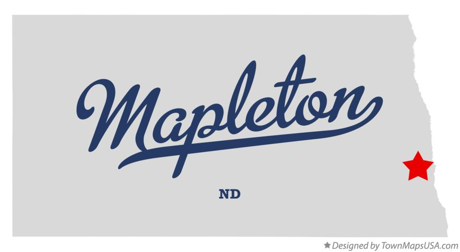 Map of Mapleton North Dakota ND