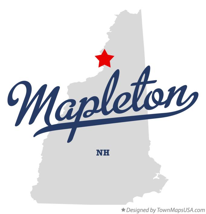 Map of Mapleton New Hampshire NH