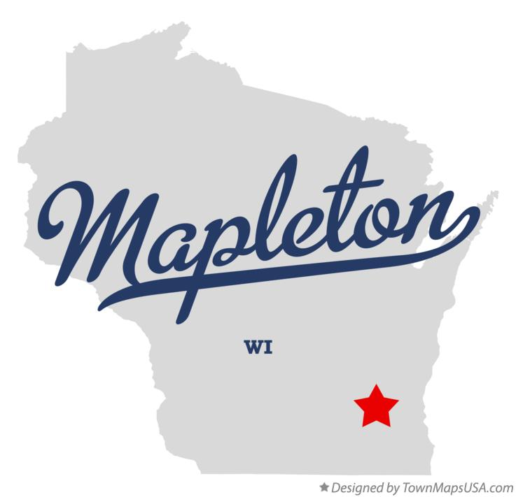 Map of Mapleton Wisconsin WI