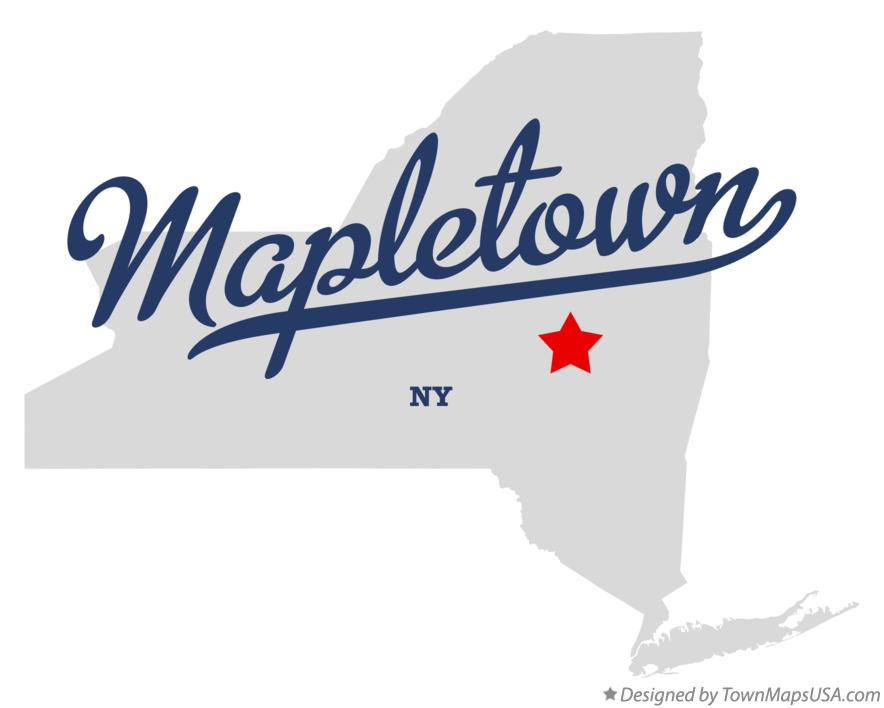 Map of Mapletown New York NY