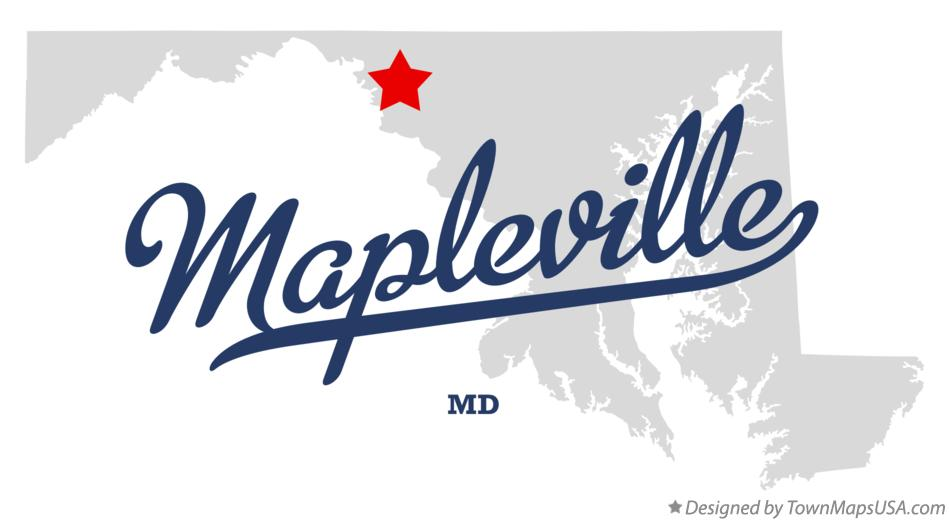 Map of Mapleville Maryland MD