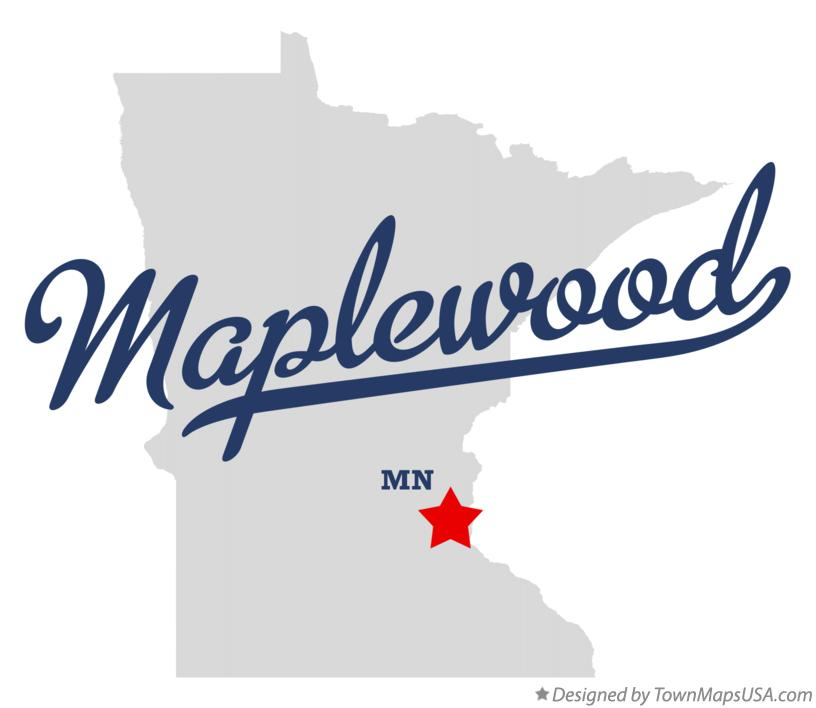 Map of Maplewood Minnesota MN