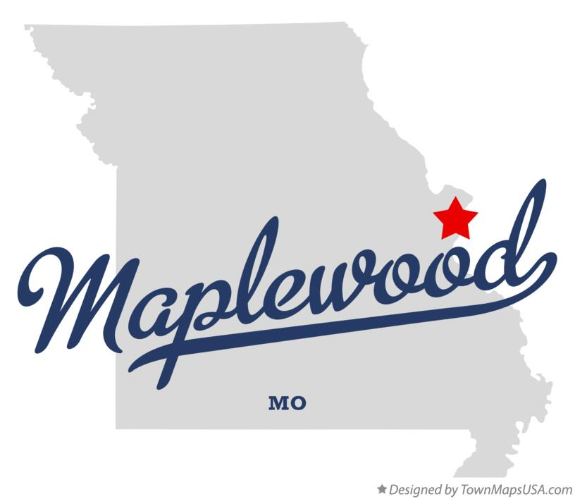 Map of Maplewood Missouri MO