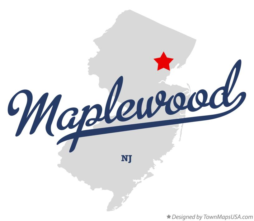 Map of Maplewood New Jersey NJ