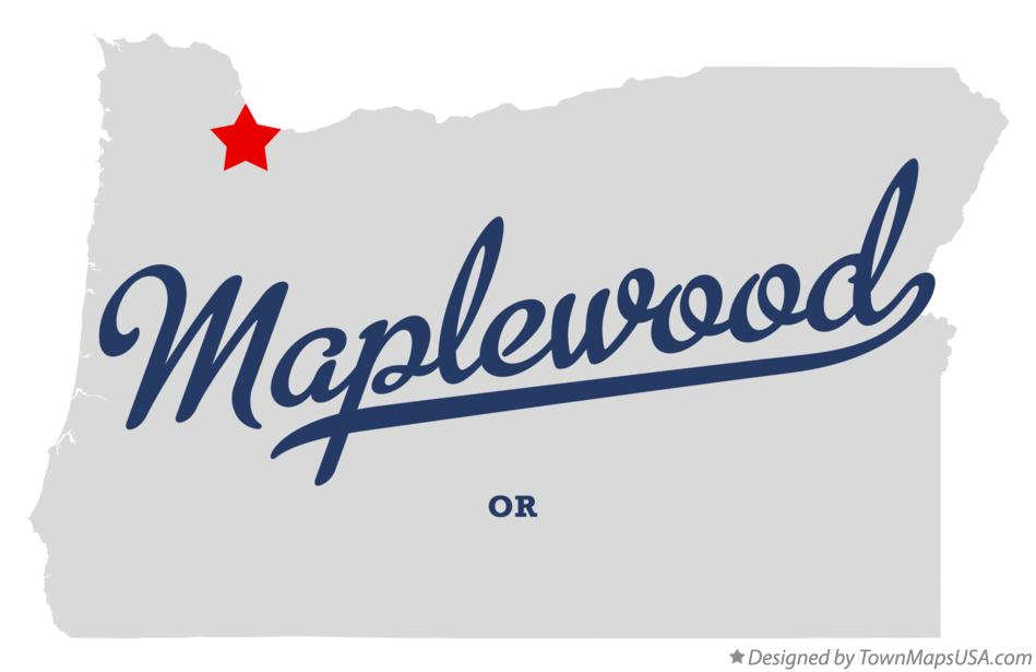 Map of Maplewood Oregon OR