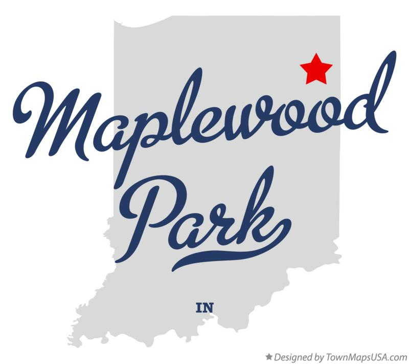 Map of Maplewood Park Indiana IN