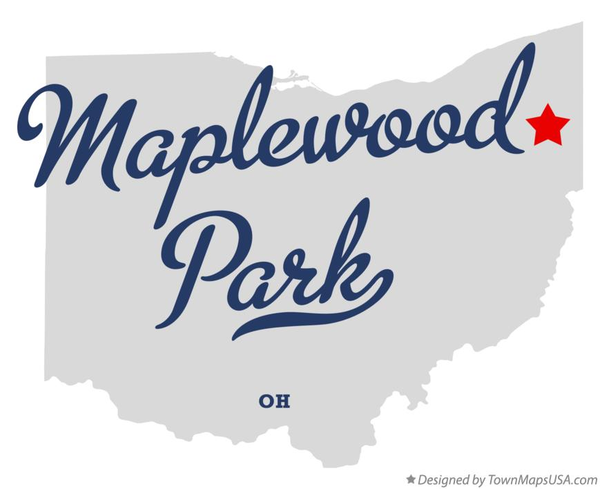 Map of Maplewood Park Ohio OH