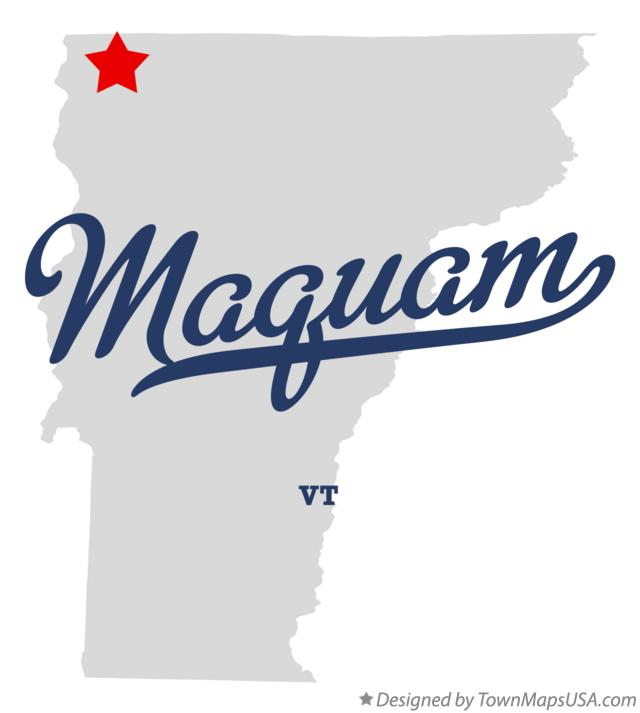 Map of Maquam Vermont VT